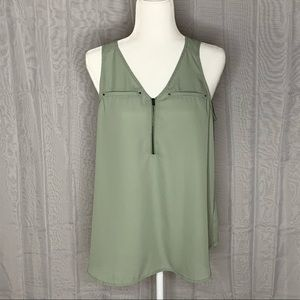 Maurices Zip Front Sleeveless Blouse